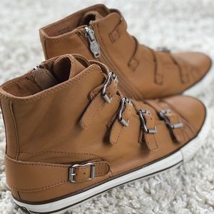 Limited by Ash Tan Leather Virgin High Top Buckles